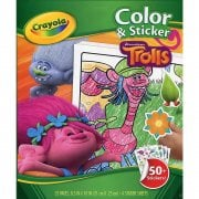 Crayola Disney Trolls 32 Page Colour & Sticker Book
