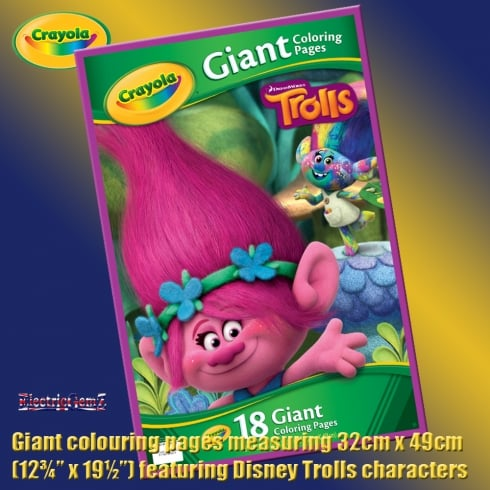 Crayola Disney Trolls Giant Colouring Pages