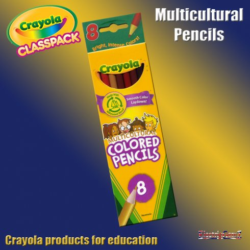 Crayola Educational 8 Multicultural Coloured Pencils