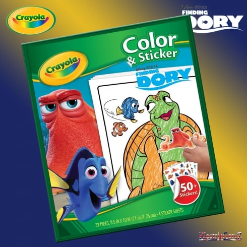 Crayola Finding Dory 32 Page Colour & Sticker Pack