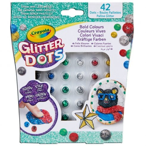 Crayola Glitter Dots - 42 Bold Colours Assortment