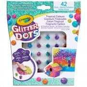 Crayola Glitter Dots - 42 Tropical Colours Assortment