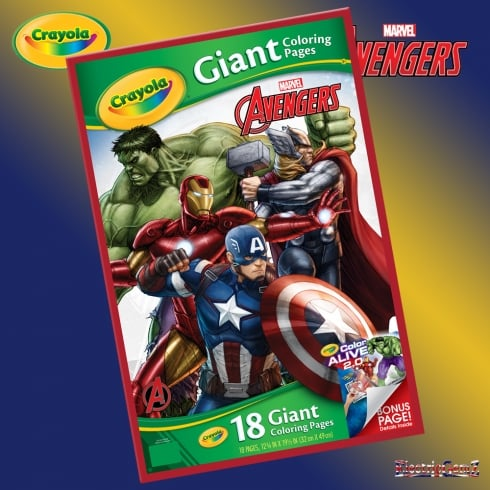 Crayola Marvel Avengers Giant Colouring Pages