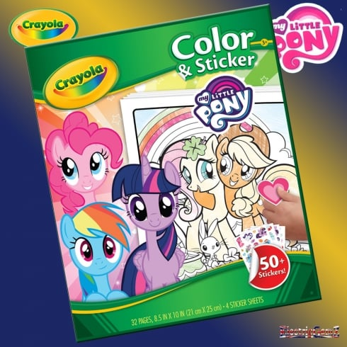 Crayola My Little Pony Color and Sticker Book