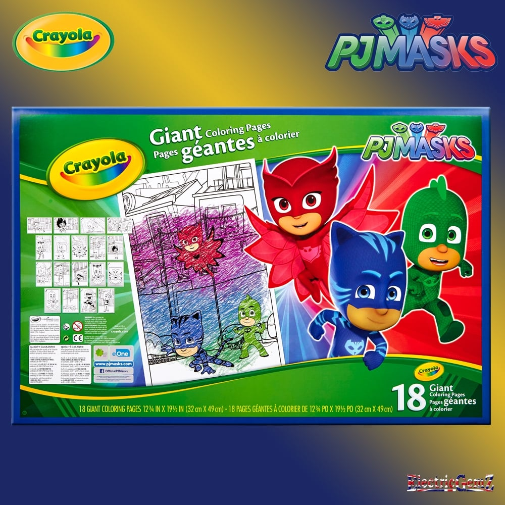 Crayola Pj Masks Giant Colouring Pages
