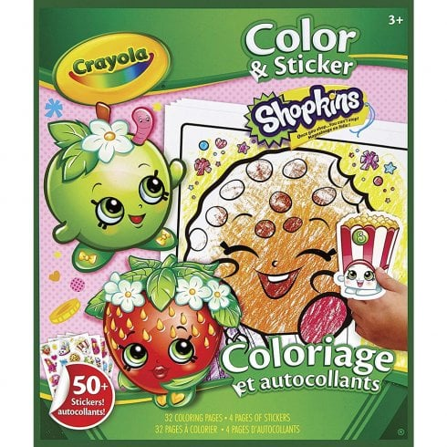 Crayola Shopkins 32 Page Colour & Sticker Book Pack