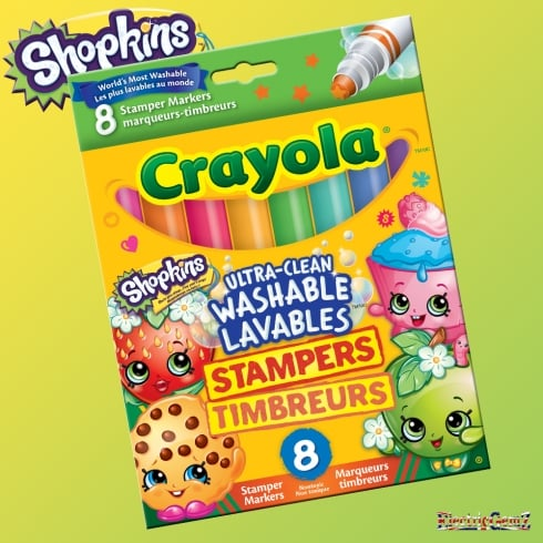 Crayola Shopkins 8 Ultra-Clean Washable Stamper Markers