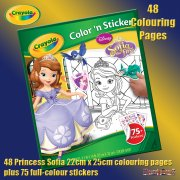 Crayola Sofia the First 48 Page Colour 'n Sticker Pack
