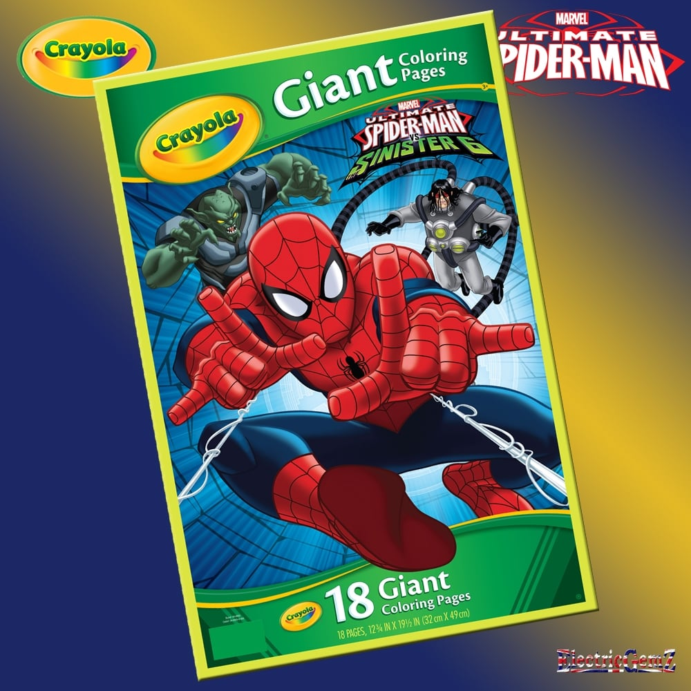 Crayola Ultimate SpiderMan Giant Colouring Pages
