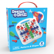 Design & Drill 57 Piece Patterns & Shapes Set with Working Power Drill