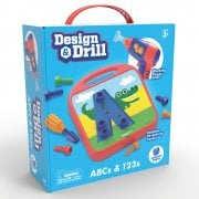 Design & Drill ABCs & 123s Toy Tool Set with Working Power Drill