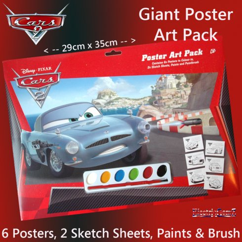 Disney Cars 2 A3 Poster Art Pack