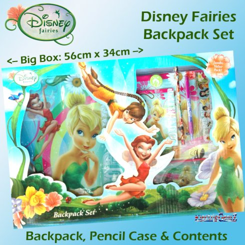 Disney Fairies Backpack Set