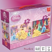 Disney Princess 2-in-1 35 & 50 Piece Jigsaw Puzzles - Belle