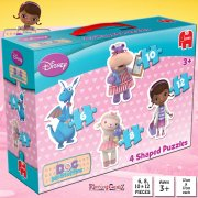 Doc McStuffins 4-in-1 Shaped Jigsaw Puzzles