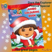 Dora the Explorer Festive Jumbo Colouring Book