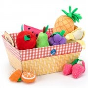 Learning Resources Educational Insights Fruit Basket - 11 Plush Fabric Fruits