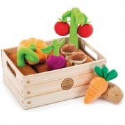 Learning Resources Educational Insights Vegetable Garden - 8 Plush Fabric Veggies & Soil