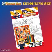 Fireman Sam Colouring Set