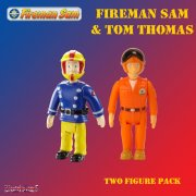 Fireman Sam in Crash Helmet and Pilot Tom Thomas 2 Figure Set