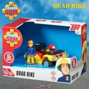Fireman Sam Mercury Quad Bike Push Along Vehicle with Sam Figure