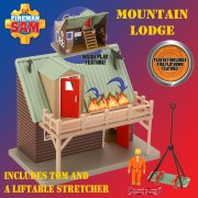 Fireman Sam Mountain Lodge Playset with Pilot Tom Thomas Figure