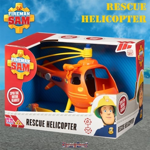 Fireman Sam Wallaby One Rescue Helicopter Push Along Vehicle