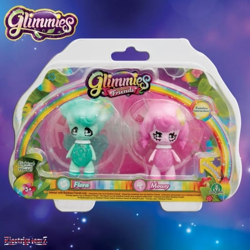 Glimmies Rainbow Friends Double Pack - Flora and Mousy