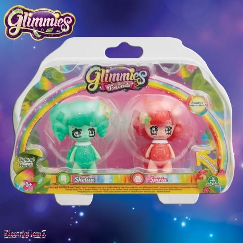Glimmies Rainbow Friends Double Pack - Shelisa and Spiria