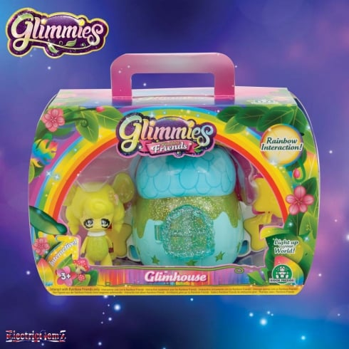 Glimmies Rainbow Friends Glimhouse Blue House with Yellow Glimmie