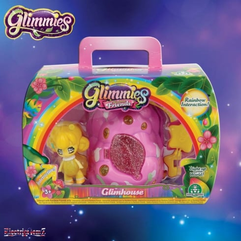 Glimmies Rainbow Friends Glimhouse Pink Bush with Yellow Glimmie