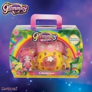 Glimmies Rainbow Friends Glimhouse Yellow & Pink Bush with Pink Glimmie