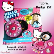 Hello Kitty Fashion to Go Fabric Badge Sewing Kit