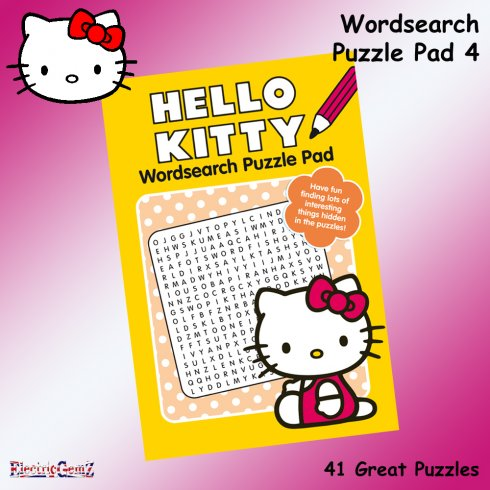 Hello Kitty Wordsearch Puzzle Pad Book 4