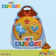 Hey Duggee Squirrel Club Figurine with Feature Badge - Tag the Rhino