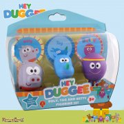 Hey Duggee Squirrel Club Tag, Roly & Betty Figurines with Feature Badges