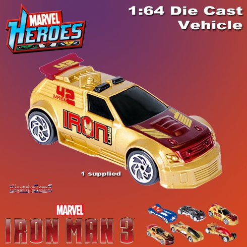 Iron Man 3 Diecast Car Vehicle 1:64 Scale - Model A