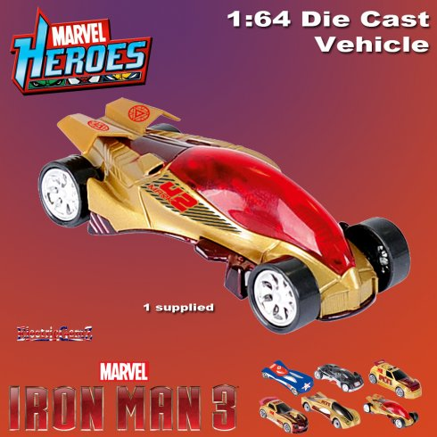 Iron Man 3 Diecast Car Vehicle 1:64 Scale - Model B