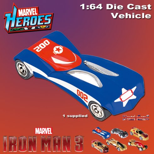 Iron Man 3 Diecast Car Vehicle 1:64 Scale - Model D