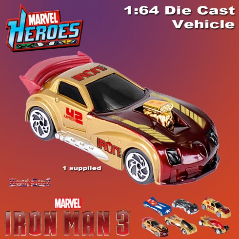 Iron Man 3 Diecast Car Vehicle 1:64 Scale - Model F