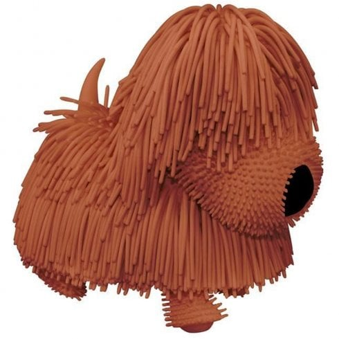 Jiggly Pets Walking Jiggling Tail Wagging Pups - Brown