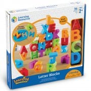Learning Resources Large Letter Blocks with Storage Bag 36 Piece Set