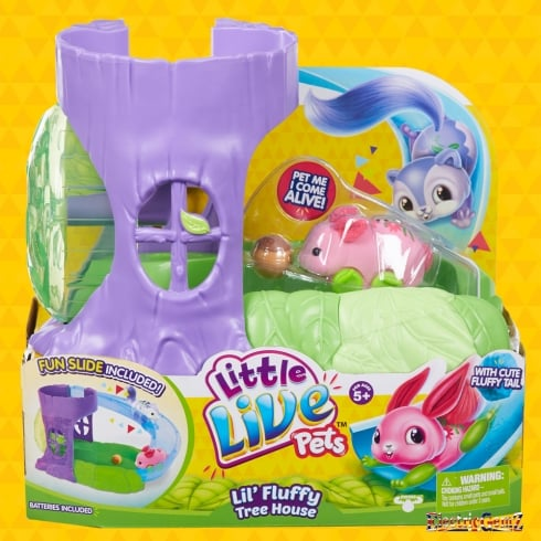 Little Live Pets Lil' Fluffy Tree House with Pink Blossom Bunny