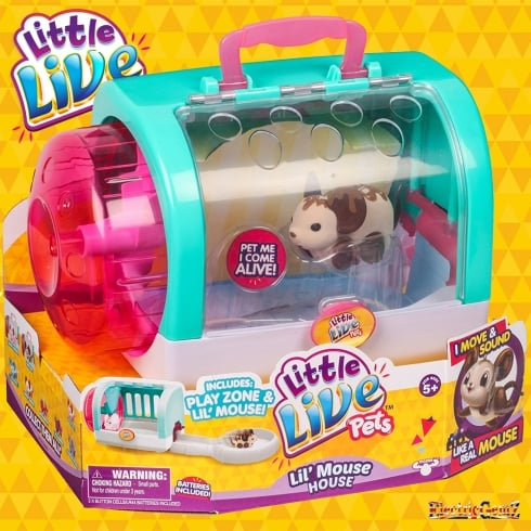 Little Live Pets L'il Mouse House with Choc Bop Mouse