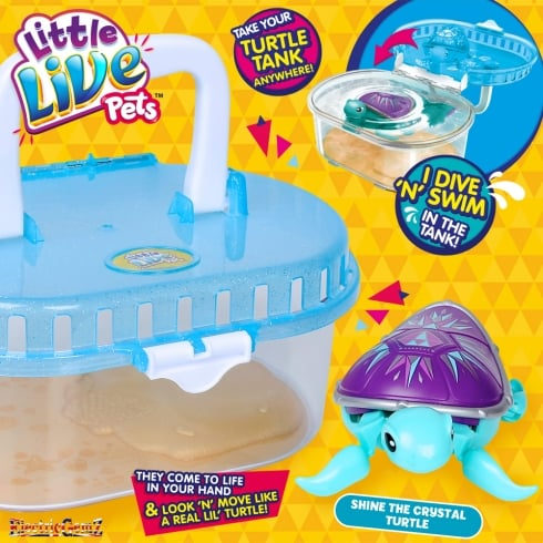 Little Live Pets L'il Turtle Tank with Shine the Crystal Turtle