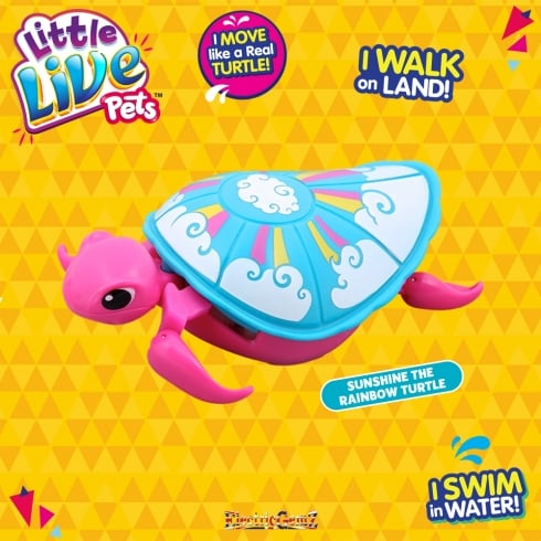 Little Live Pets Swimstar Turtle - Sunshine the Rainbow Turtle