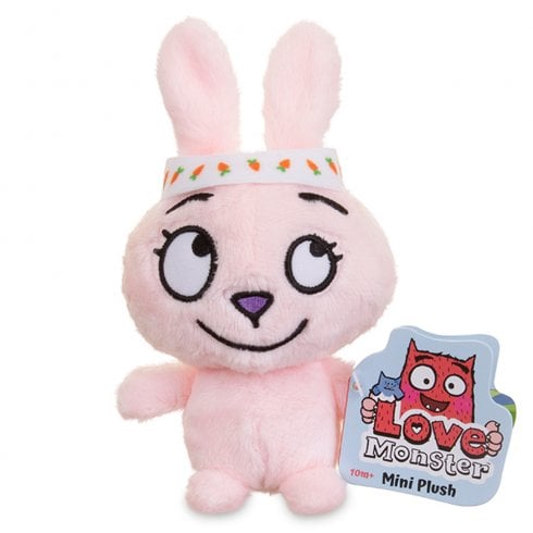 Love Monster Mini Plush Soft Toy - Tiniest Fluffiest Bunny