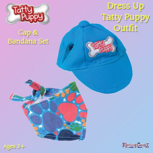 Me To You Dress Up Tatty Puppy Outfit - Cap and Bandana Set