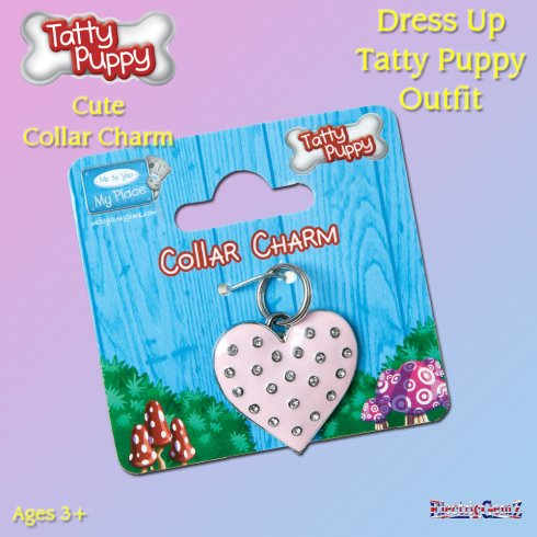 Me To You Dress Up Tatty Puppy Outfit - Heart Collar Charm