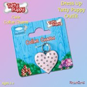 Me to You Tatty Teddy Me To You Dress Up Tatty Puppy Outfit - Heart Collar Charm